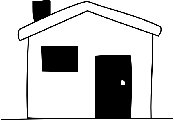 House Clipart Black And White Black White House Hi Png