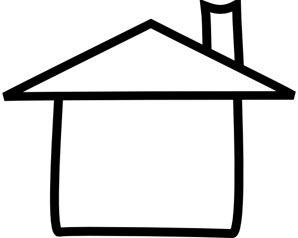 House Clipart Black And White   Clipart Best