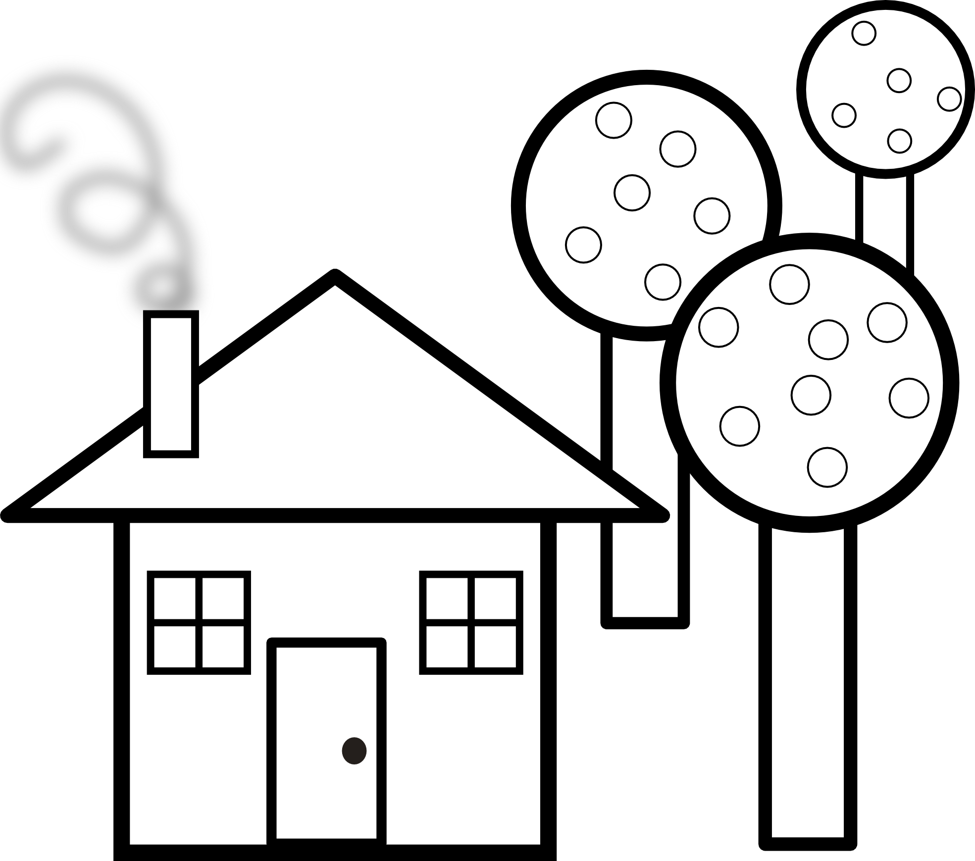 House Clipart Black And White   Clipart Panda   Free Clipart Images