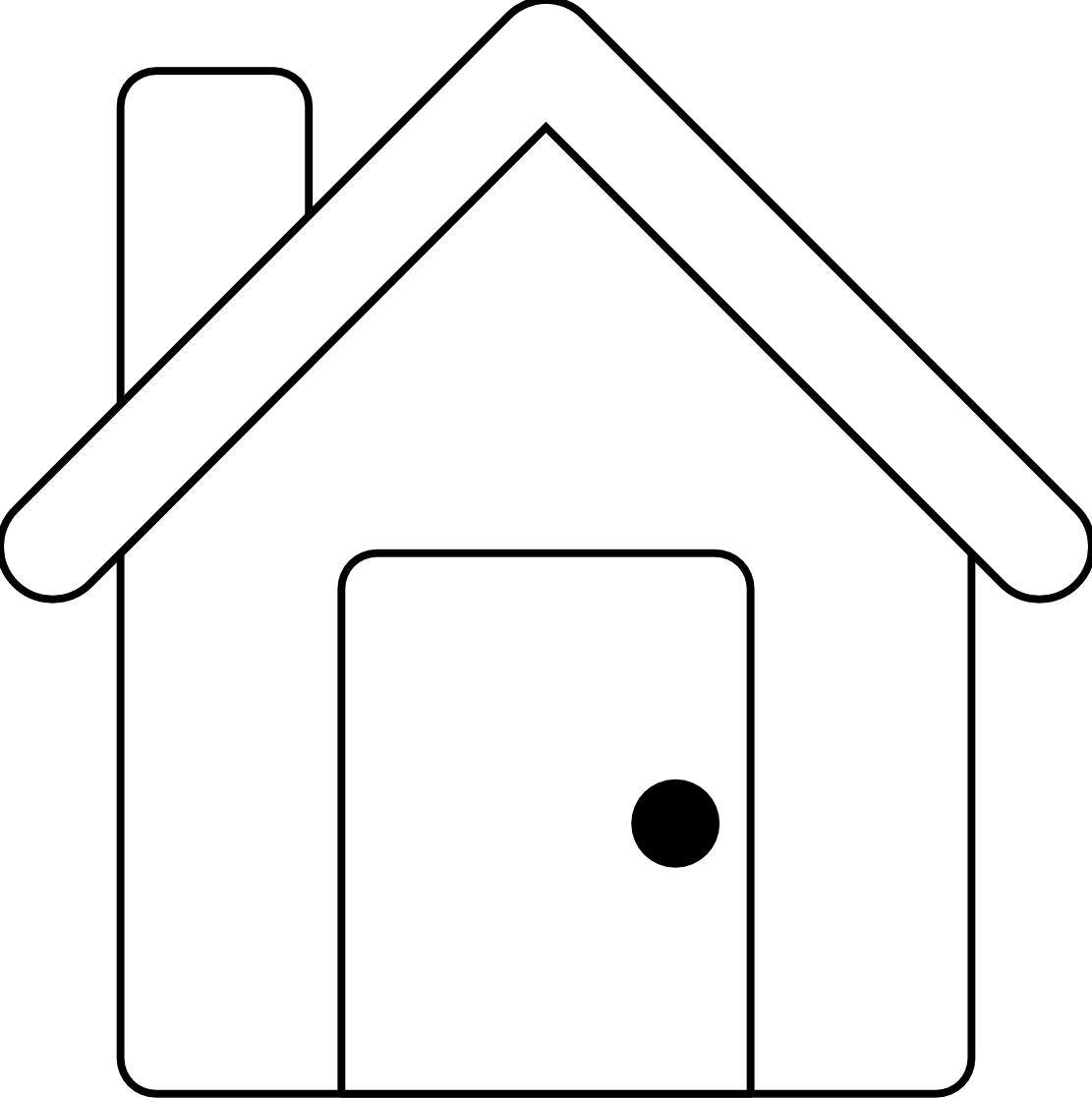 House Clipart Black And White House Line House Black White Line 1111px