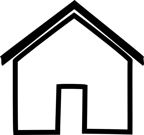 Hut Clipart Black And White
