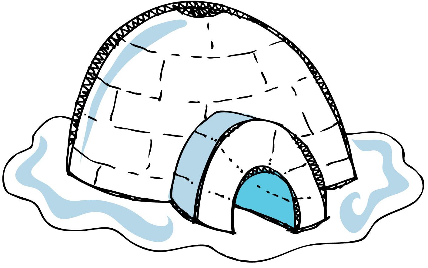 Clip Art Igloo Clip Art igloo outline clipart kid clip art