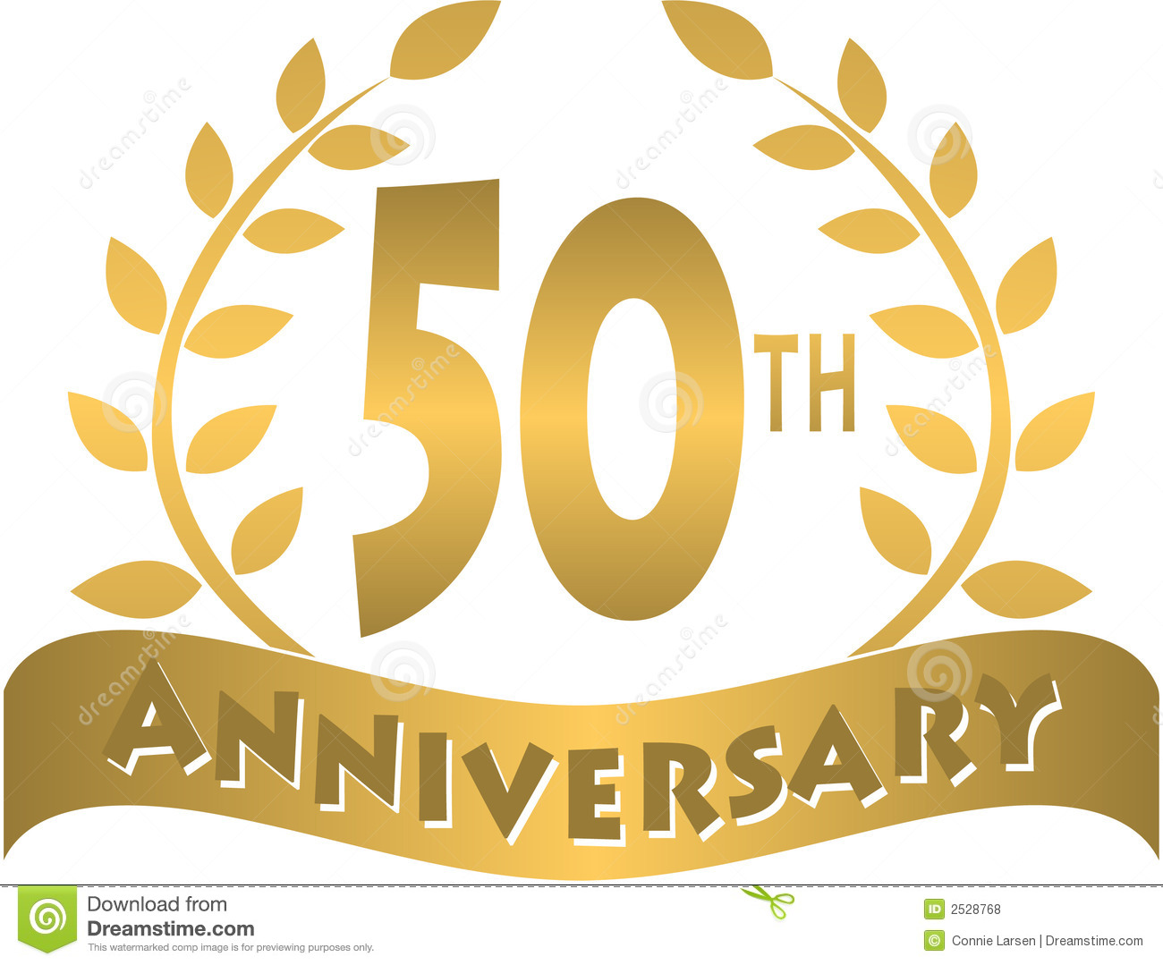 Logo For A 50th Or Golden Anniversary Of A Marriage Or Business   Eps