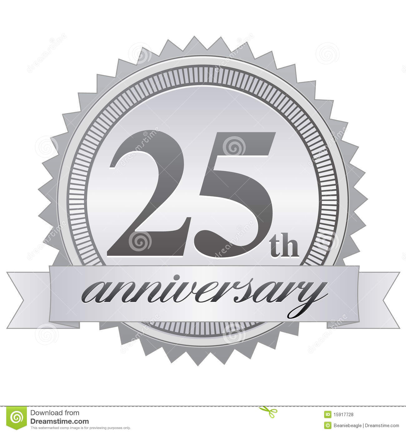 Of A 25th Anniversary Seal Celebrating 25 Five Years Of Your Business