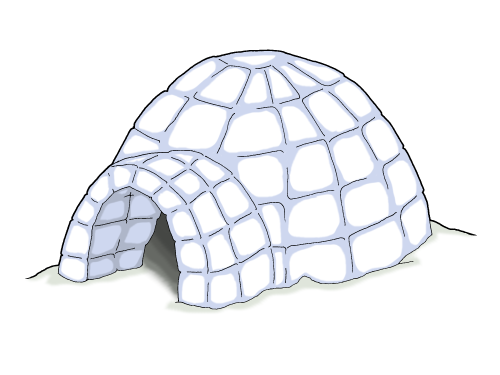 Igloo Clipart - Clipart Kid
