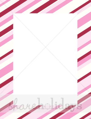 Pink Candy Cane Border
