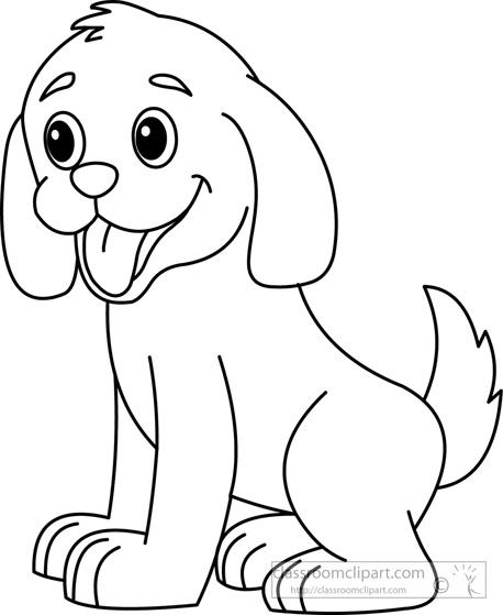 Dog Outline Clipart - Clipart Kid