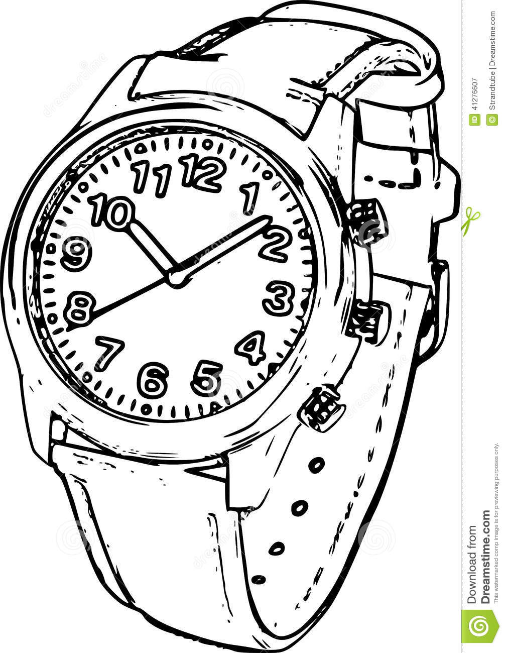 Royalty Free Stock Photography  Wrist Watch Sketch  Image  41276607