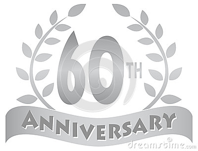 Sixtieth Anniversary Banner Eps Royalty Free Stock Images   Image