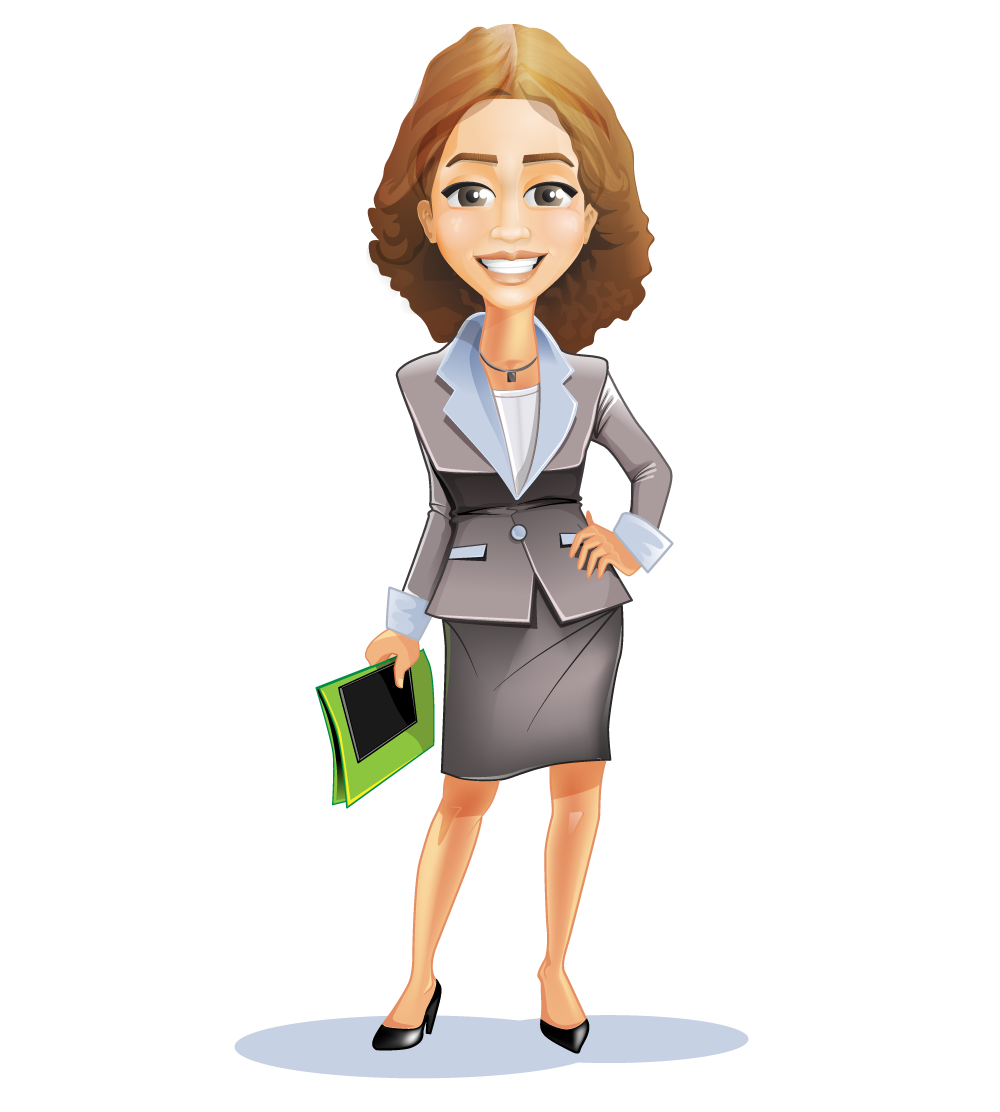 Lady In Business Suit Clipart - Clipart Kid