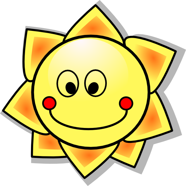 Smiling Cartoon Sun Clip Art At Clker Com   Vector Clip Art Online