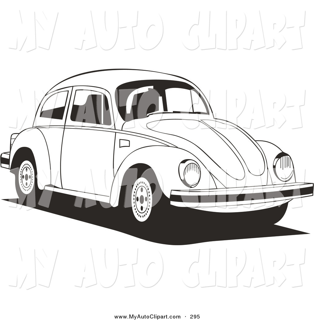 Vw Bug Clipart Black And White Clip Art Of A Volkswagen Bug