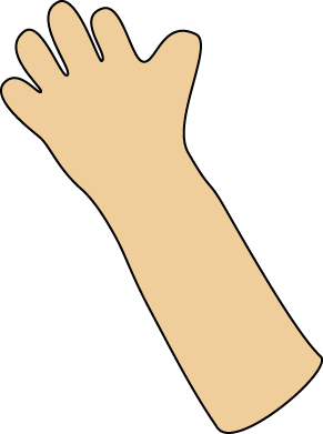 Waving Hand Clip Art Image   Blank Waving Hand And Arm  This Image Is