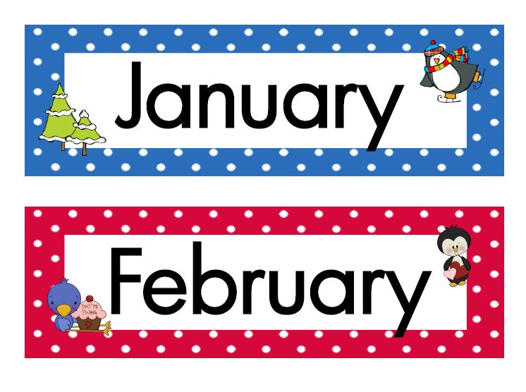 Clip Art Months Of The Year Clipart - Clipart Kid