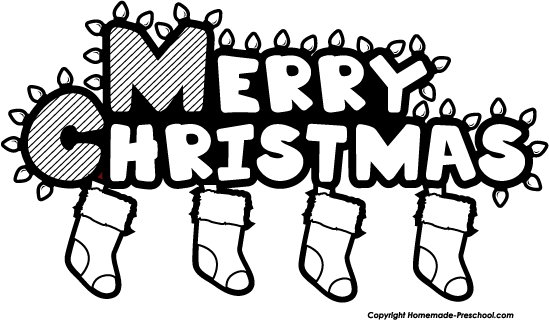 Clip Art Black And White Christmas Clipart - Clipart Suggest