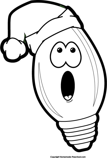 Black And White Christmas Lights Clip Art