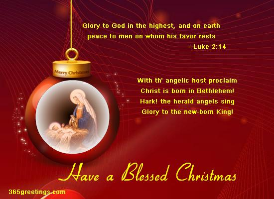 Christian Christmas Messages And Christian Christmas Card Wording