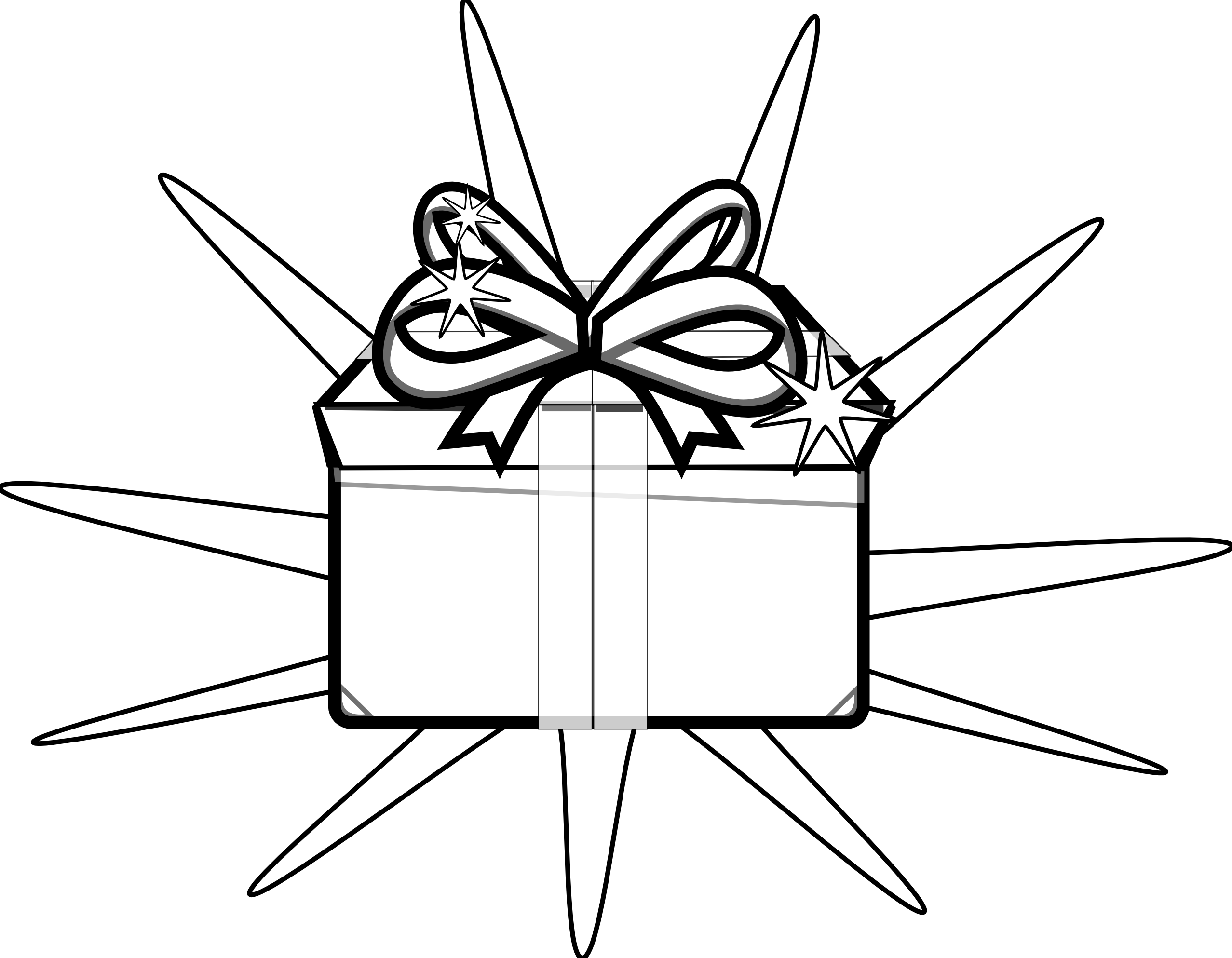 Christmas Present Clipart Black And White   Clipart Panda   Free