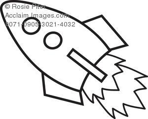 Clipart Illustration Of A Rocket   Acclaim Stock Photography