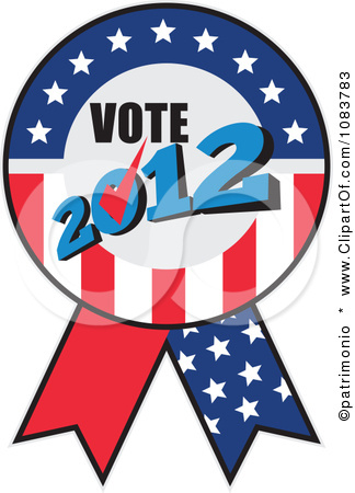 Description From Clipart Vote 2012 Presidential Election Usa Flag