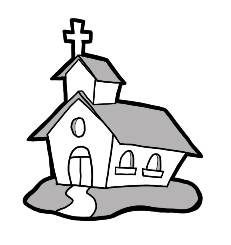 Church Black And White Clipart - Clipart Kid