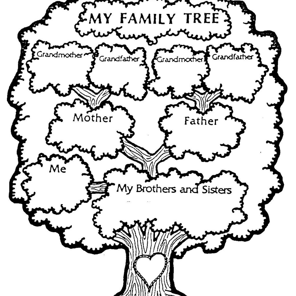 Family Tree Clip Art Color Page   Clipart Panda   Free Clipart Images