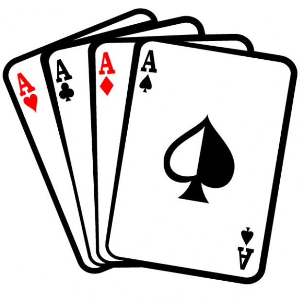 Four Aces Poker Cards Clip Art Vector   Free Download