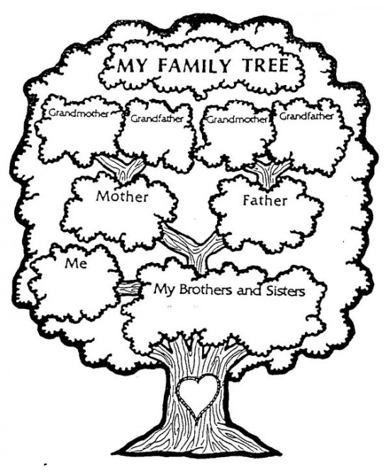 Free Pictures Of Family Tree Coloring Pages   All About Free Coloring