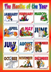 Month Names Clipart - Clipart Kid