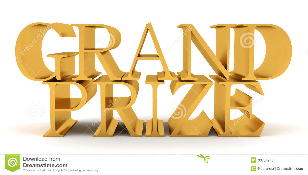 Grand Prize Golden Text Royalty Free Stock Photo   Image  33704945