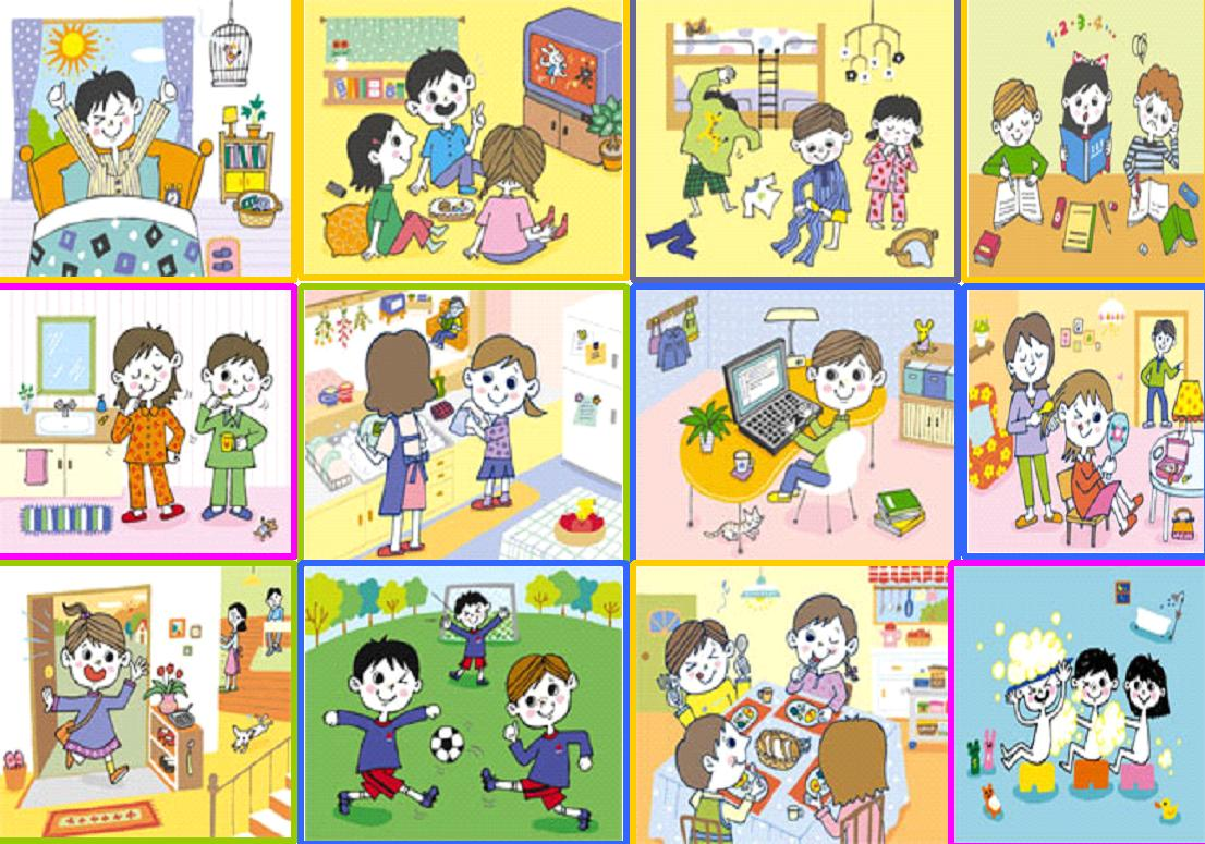 Clip Art Of Daily Activities Clipart - Clipart Kid