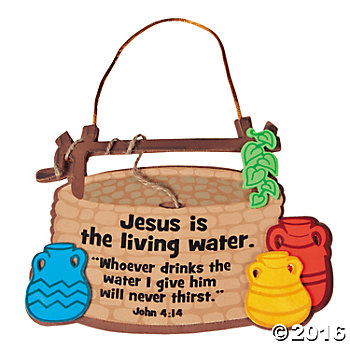 Jesus Is The Living Water  Sign Craft Kit   Oriental Trading