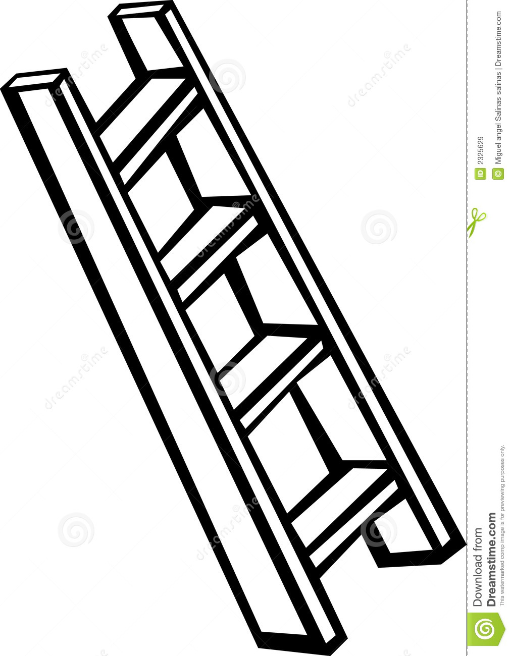 Ladder Clipart Black And White Black And White Illustration