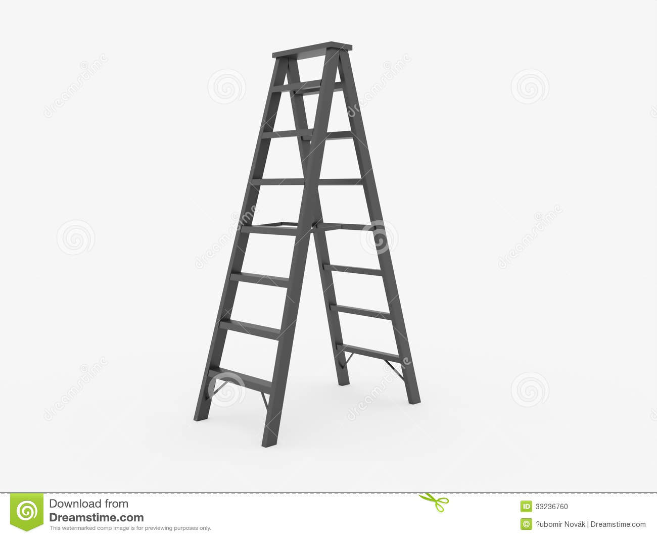 Ladder Clipart Black And White Ladder On White Background