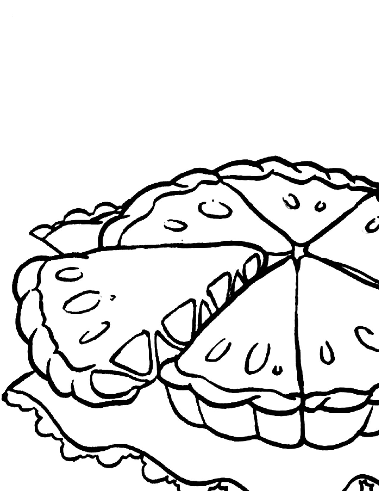 Apple Pie Black And White Clipart