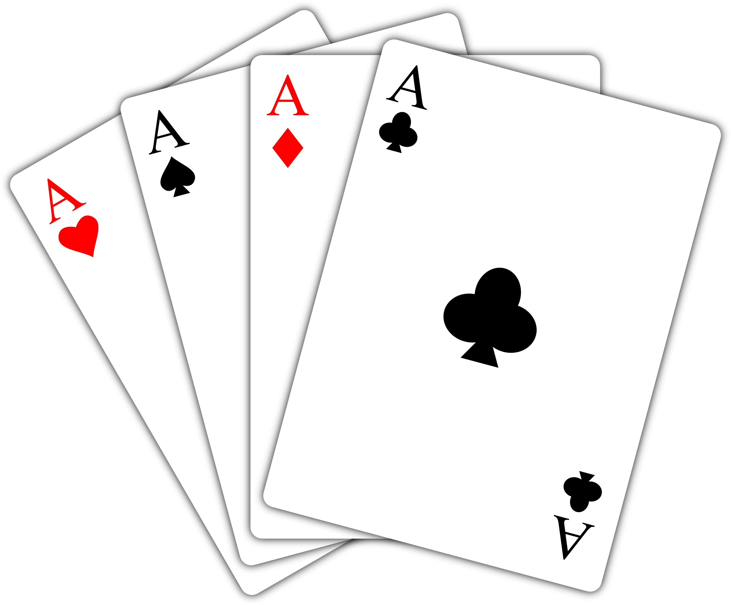 Black And White Playing Cards Clipart - Clipart Kid