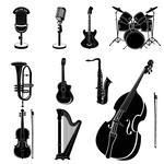 Report Browse   Music   Movie   String Instruments Silhouettes
