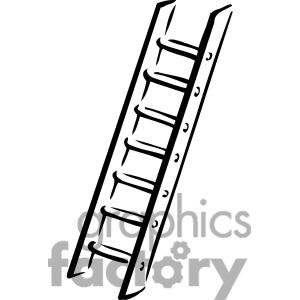 Royalty Free Black And White Ladder Clipart Image Picture Art