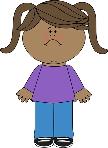 Sad Little Girl Clip Art Image   Little Girl With A Frown On Her Face