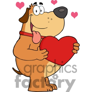 Valentines day dog clipart pictures