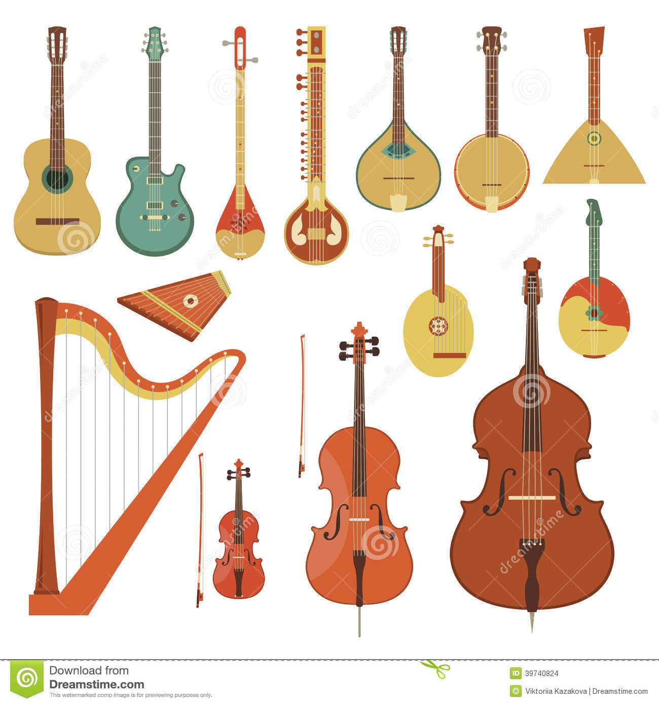 String Instruments Learning Chart (Posters ) J.W. Pepper Sheet Music