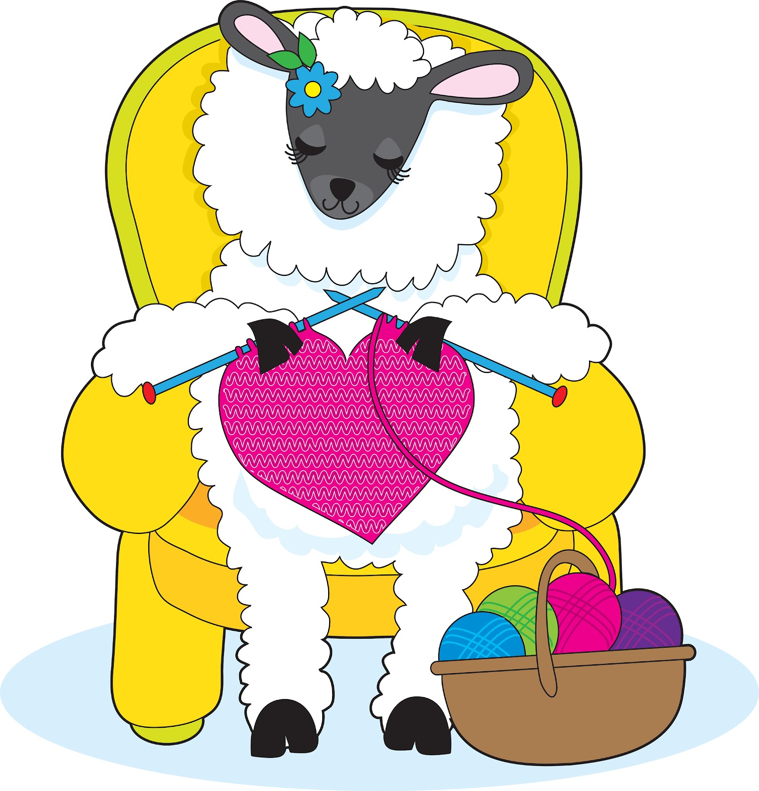 Knitting Sheep Clipart : Clip art sheep knitting spinning clipart suggest