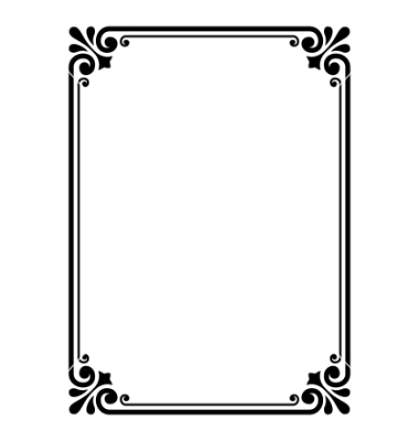 Simple frame black and white