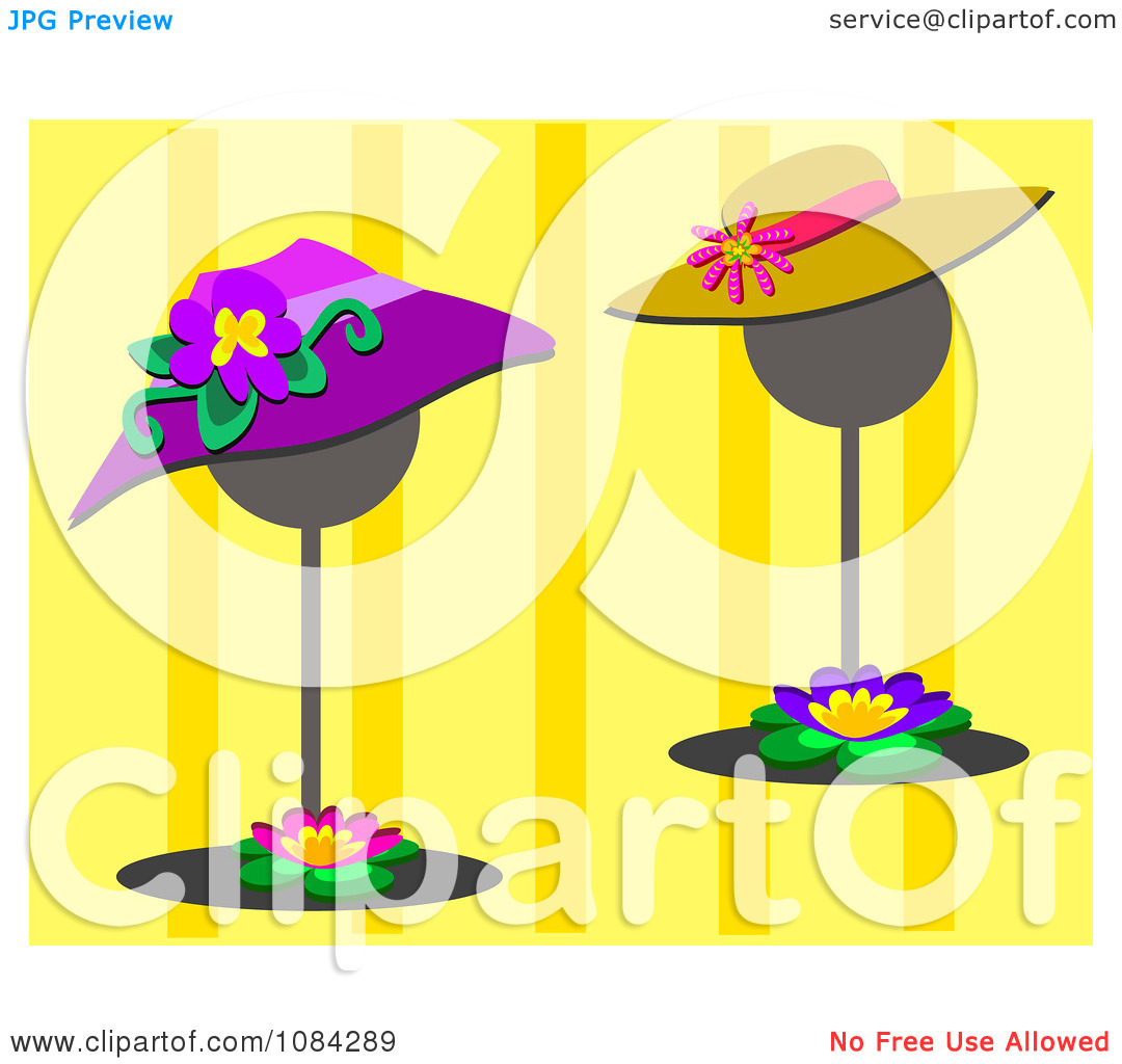 Stand Fan Clipart Clipart Two Hats On Stands