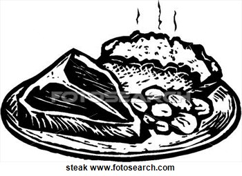 Steak Clipart Black And White Steak Art Parts Clip Art