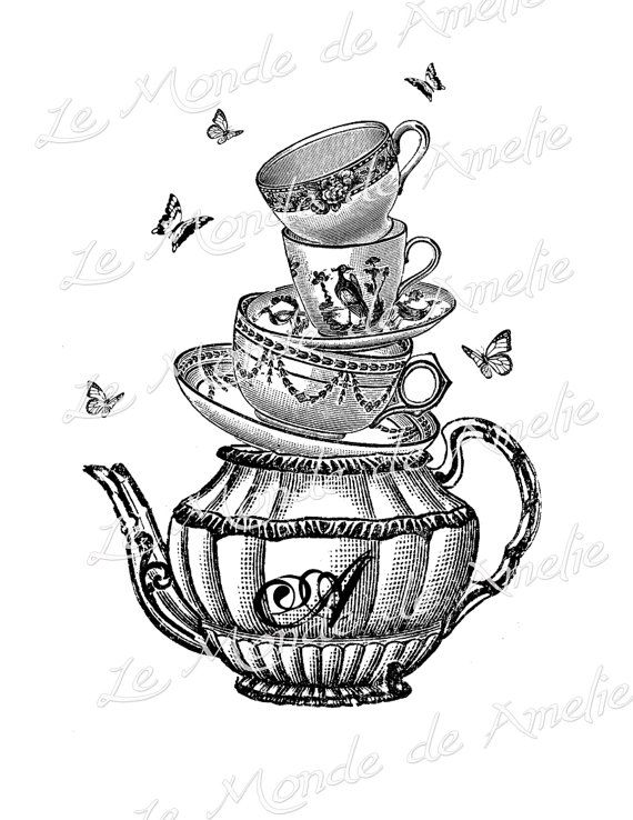 Alice In Wonderland Mad Hatter Tea Party Clipart Images amp Pictures