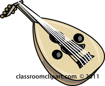 Top Musical Instruments Turkish Oud String Instrument Clipart