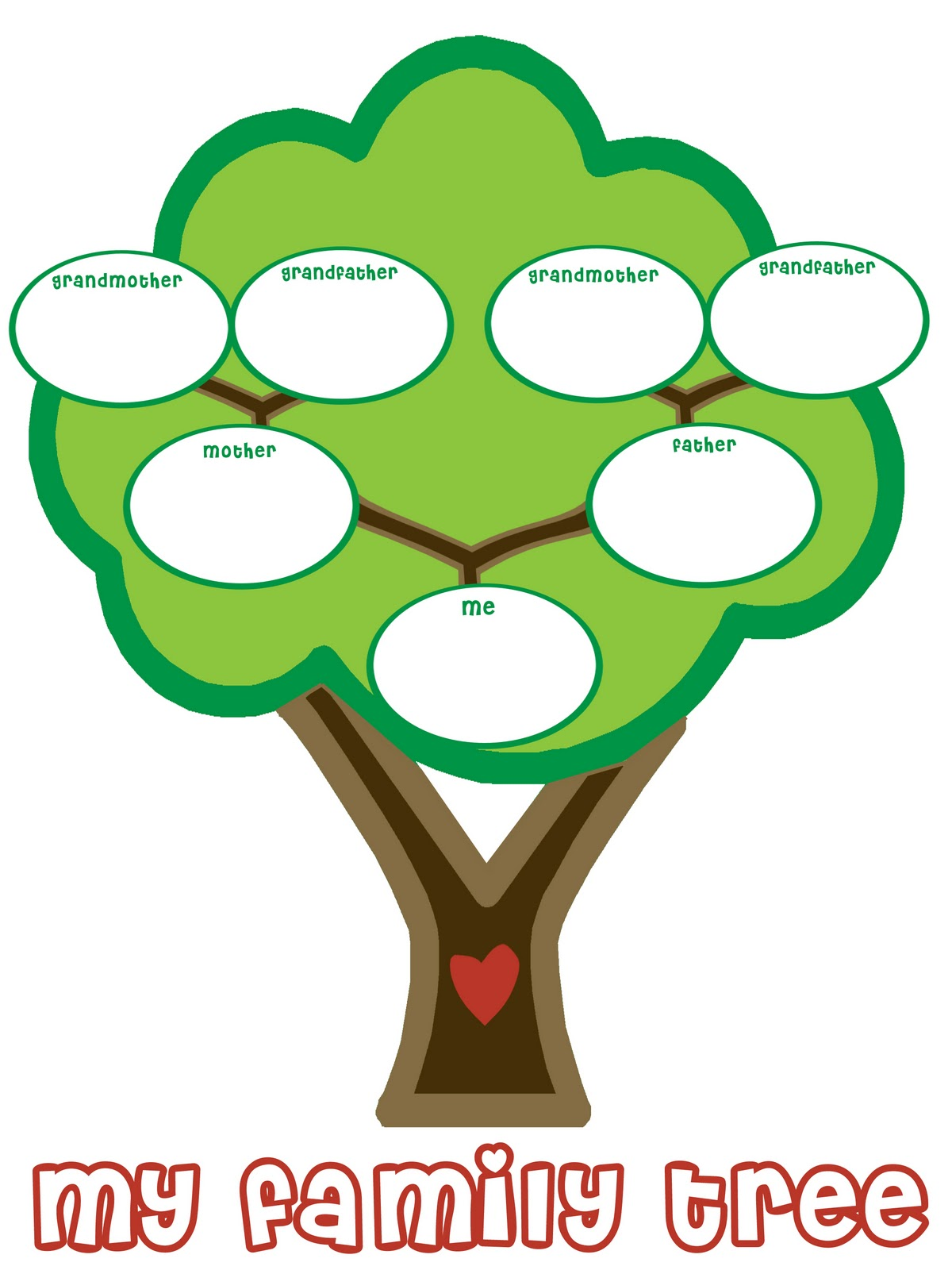 15 Blank Family Tree For Kids Free Cliparts That You Can Download To