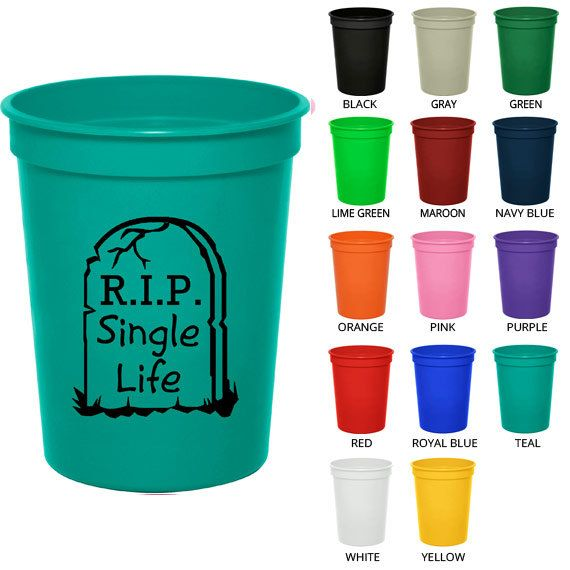 16 Oz Bachelorette Stadium Cups  Clipart 6039  Rest In Peace Single