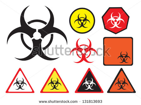 Biohazard Vector Icon In Different Styles  Clip Art That Can Be